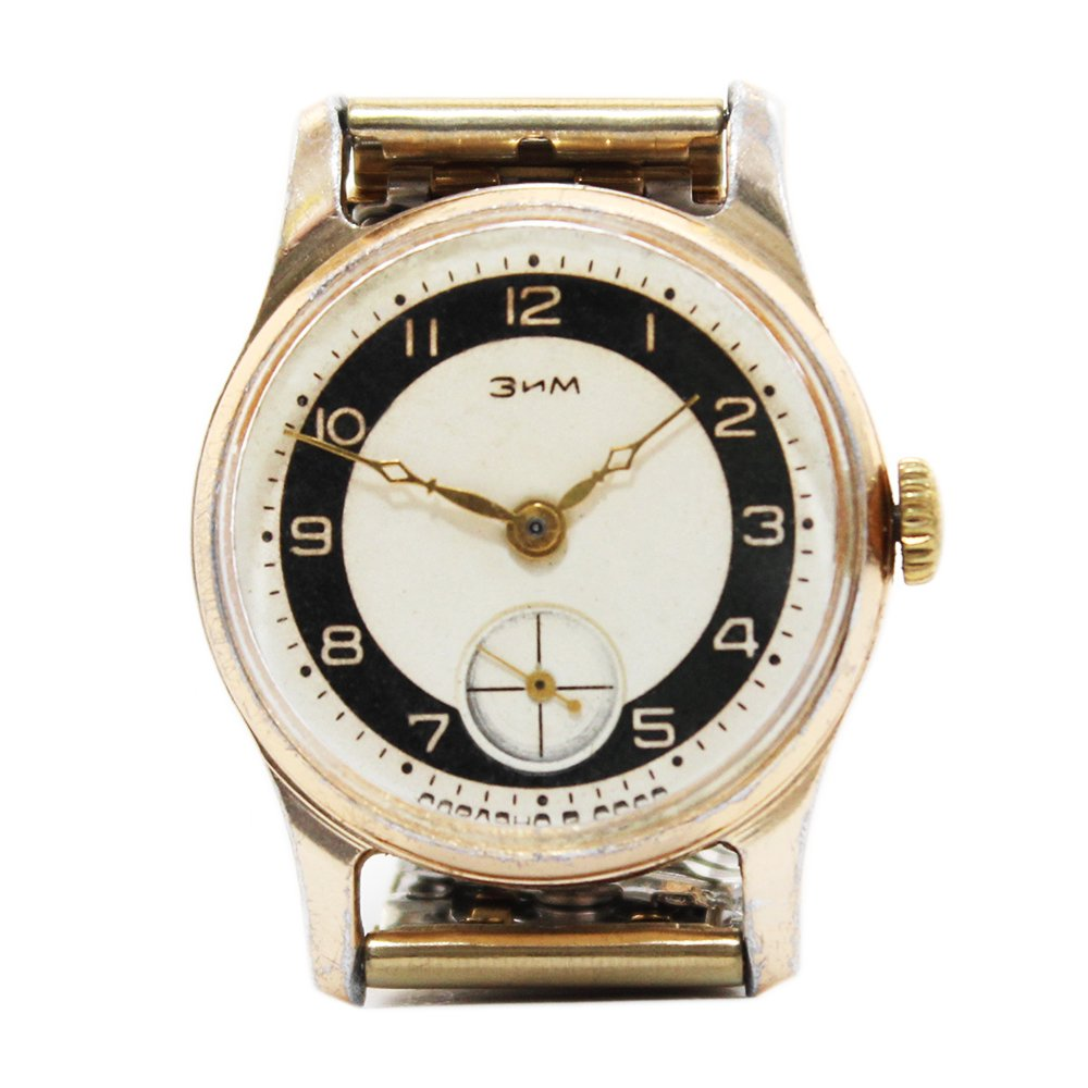 Vintage 1960's POBEDA Zim Soviet Russian Watch Copper Gold -CCCP-