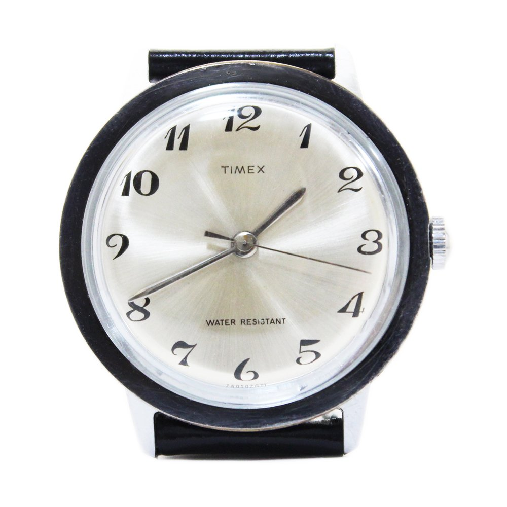 Vintage 70's TIMEX Wrist Watch -Silver-