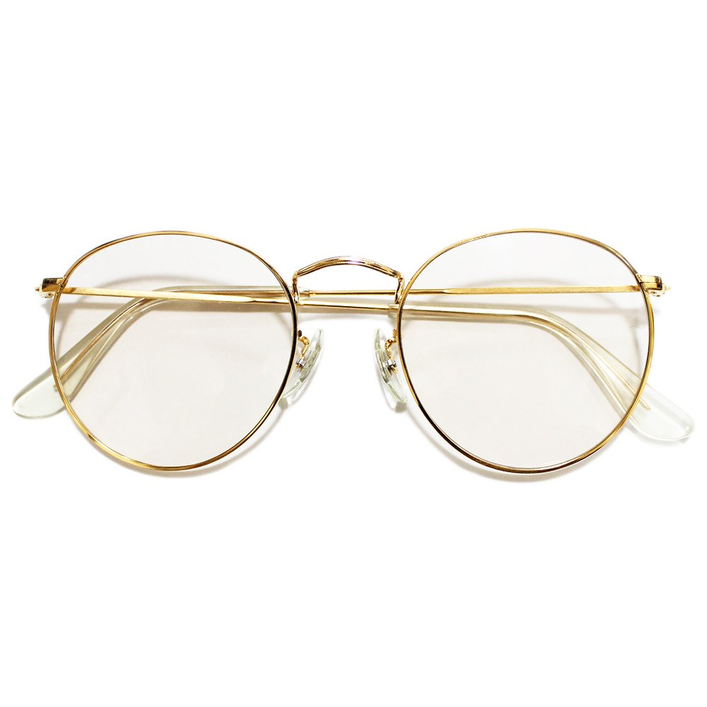 【Dead Stock】Vintage 80's Bausch&Lomb RayBan Round Metal Eyeglasses -Made in U.S.A-