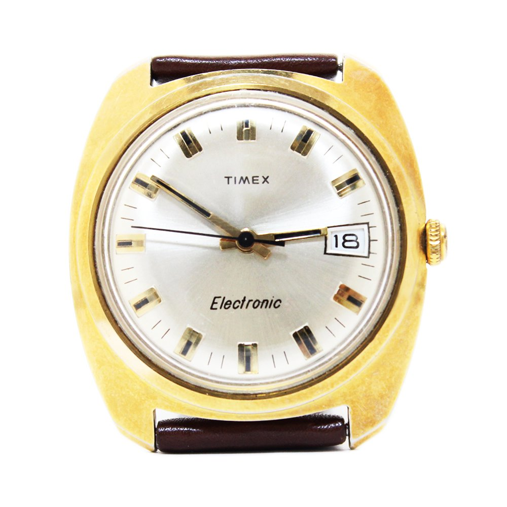 Vintage 1970's TIMEX Wrist Watch Gold -Electric-