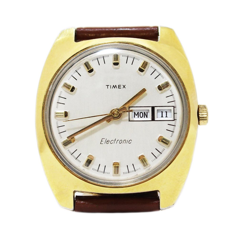 Vintage 1970's TIMEX Wrist Watch Classic Gold -Electric-