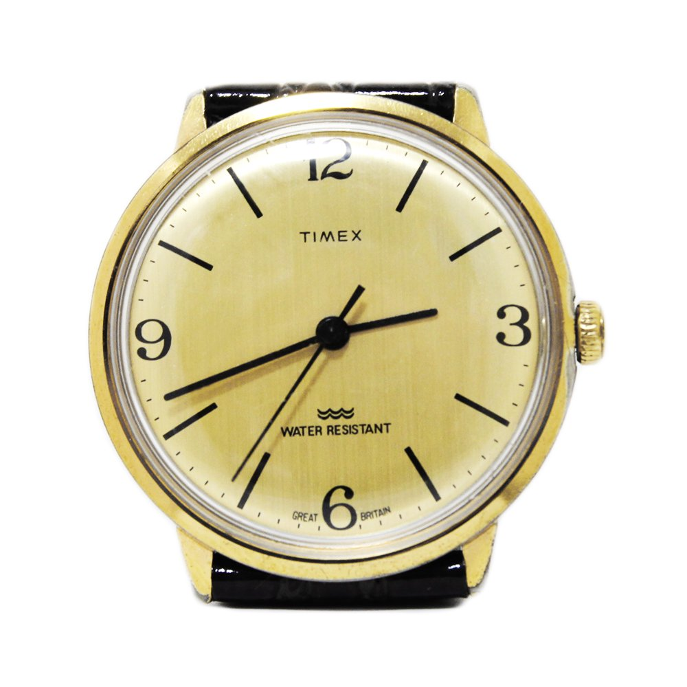 Vintage 1970's TIMEX Wrist Watch Gold -Made in Great Britain-