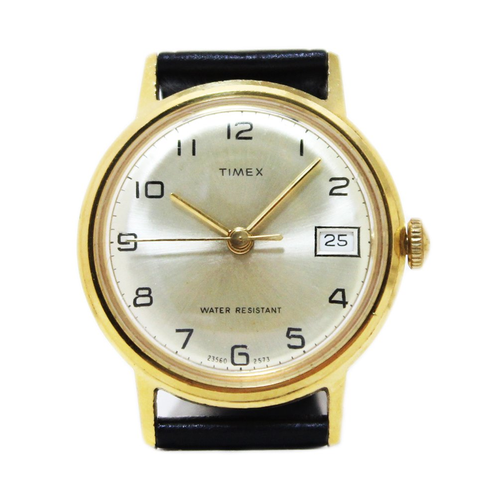Vintage 1970's TIMEX Wrist Watch Classic Gold -Hand-Winding-