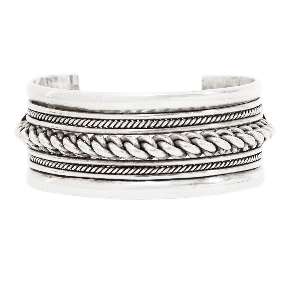 Vintage Navajo Heavy Chunky Twisted Wire Bangle -27mm wide-