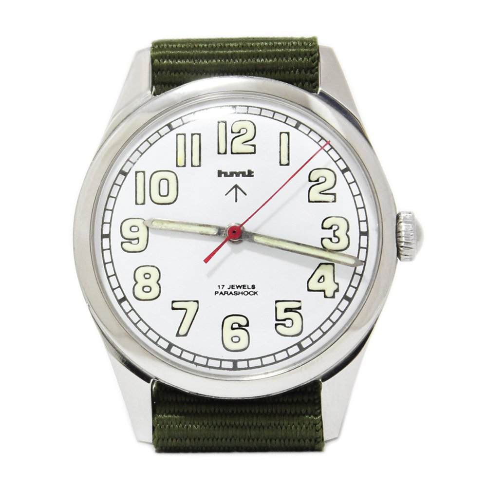 【Dead Stock】Vintage 1980's HMT British Army Military Watch -White-