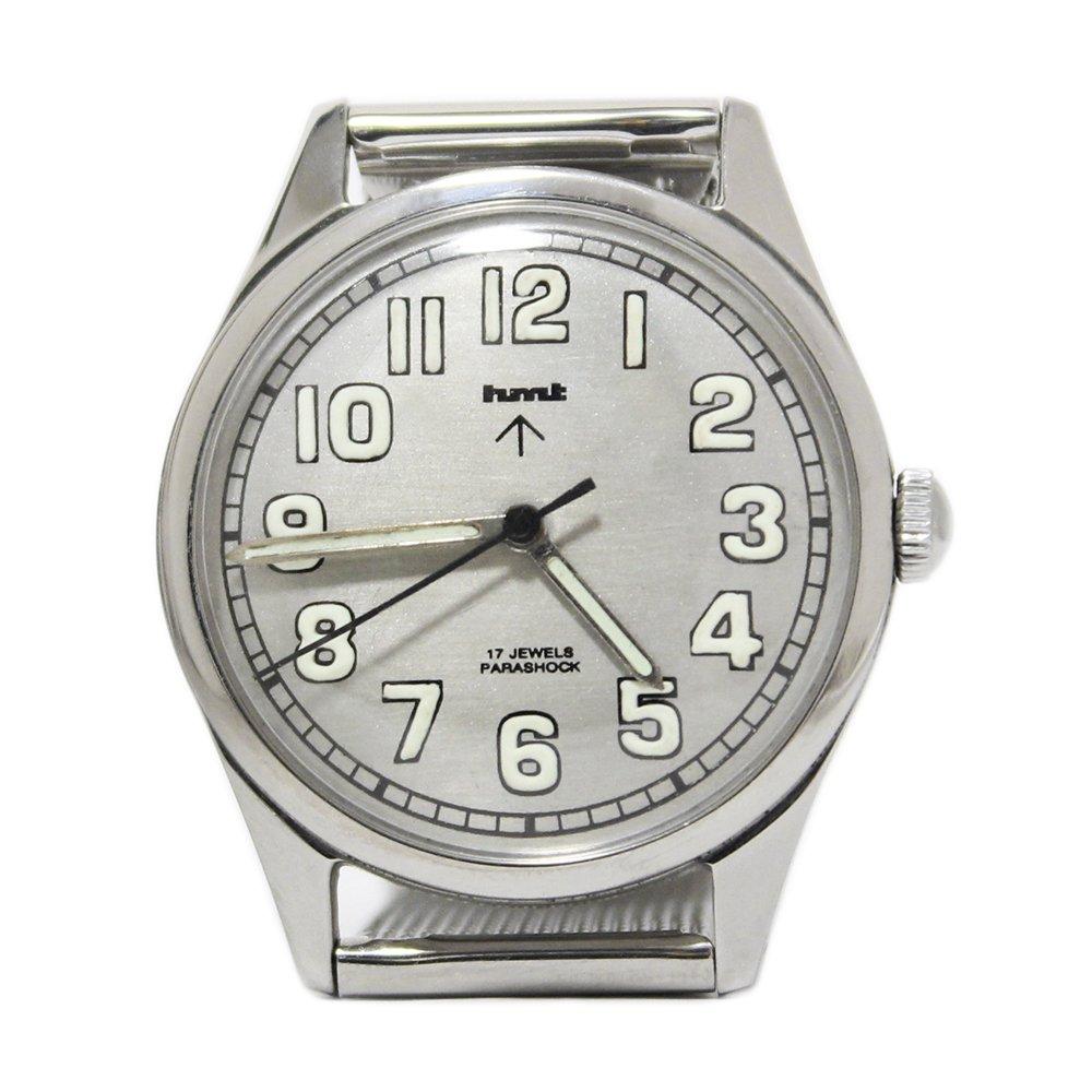 【Dead Stock】Vintage 1980's HMT British Army Military Watch -Metallic Gray-
