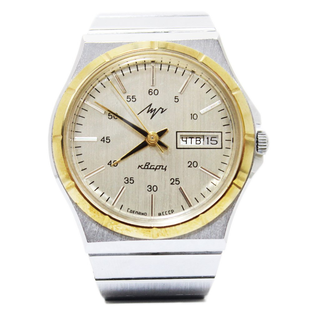 【Dead Stock】Vintage 1980's Luch Quartz Watch -USSR-