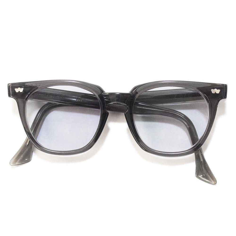 Vintage 1950's WO Gray Smoke Acetate Eyeglasses -Made in U.S.A.-