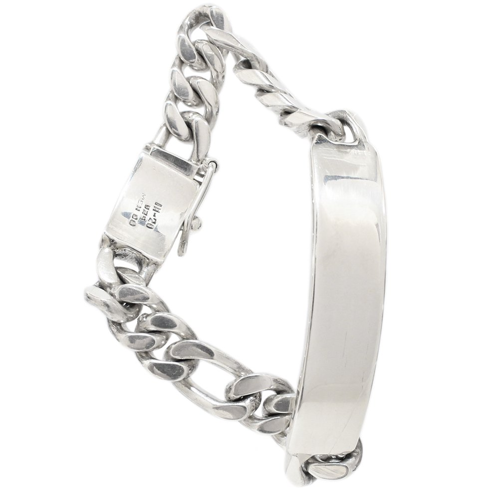 Taxco Mexican Heavy ID Bracelet -12mm wide-