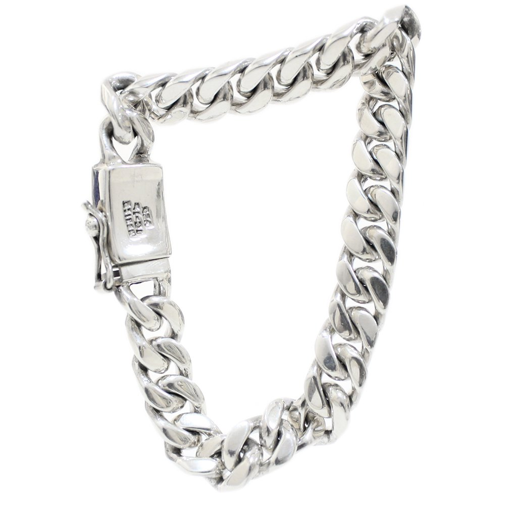 Taxco Mexican Curb Chain Bracelet -10mm wide-