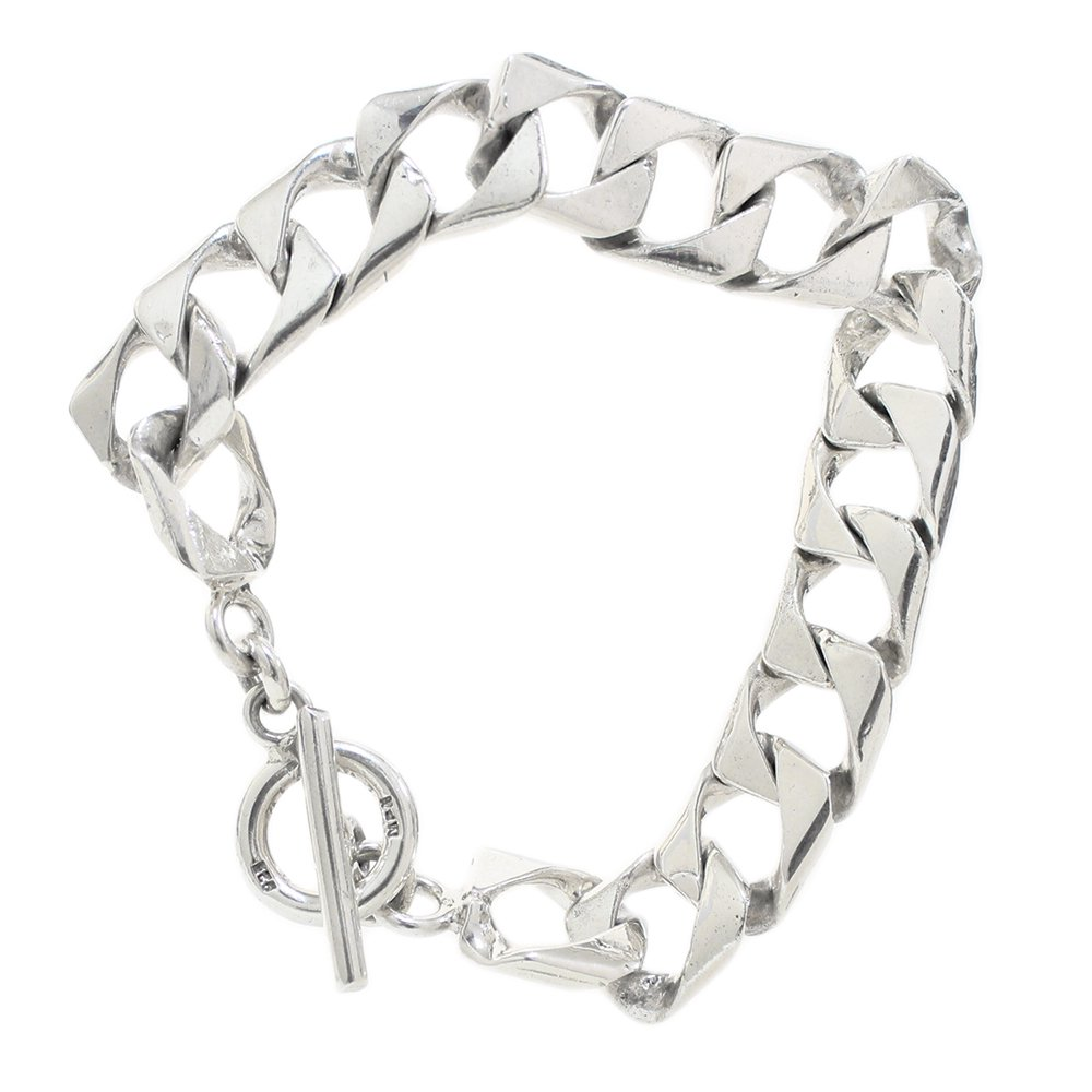 Taxco Mexican Square Chain Bracelet -14mm wide-