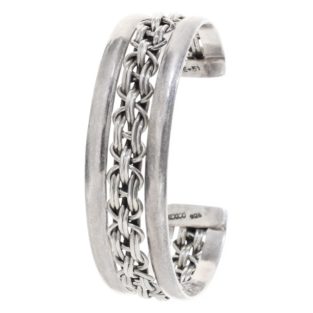 Taxco Mexican Twisted Wire Bangle -19mm wide-