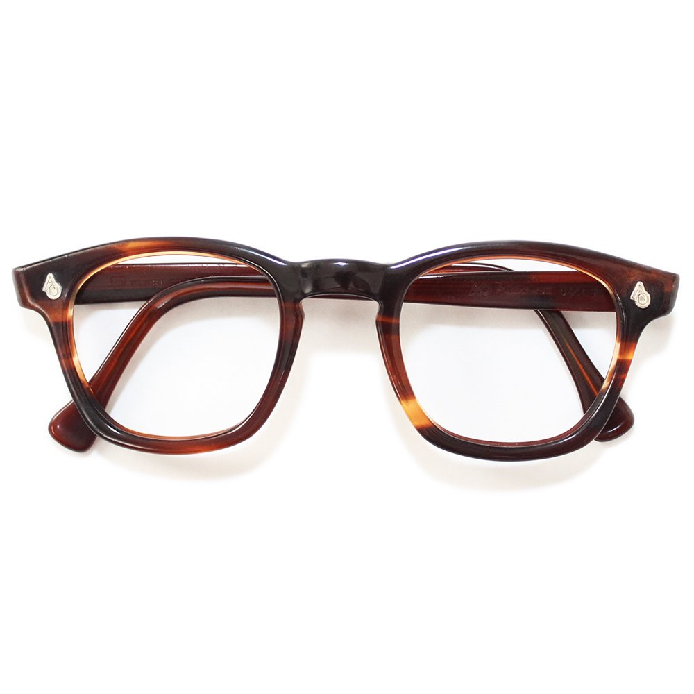 Vintage 1950's American Optical Wellington Eyeglasses Amber -Made in U.S.A.-