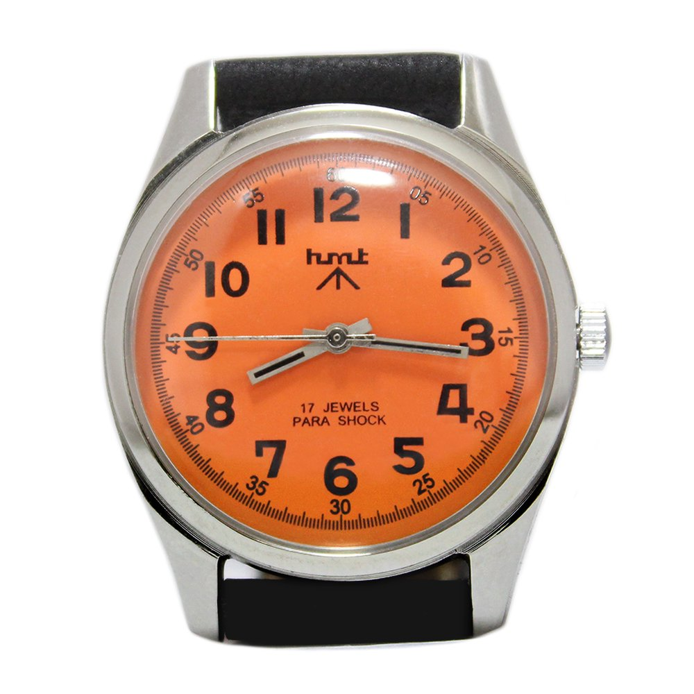 【Dead Stock】Vintage 1980's HMT British Army Military Watch -Orange × Black-