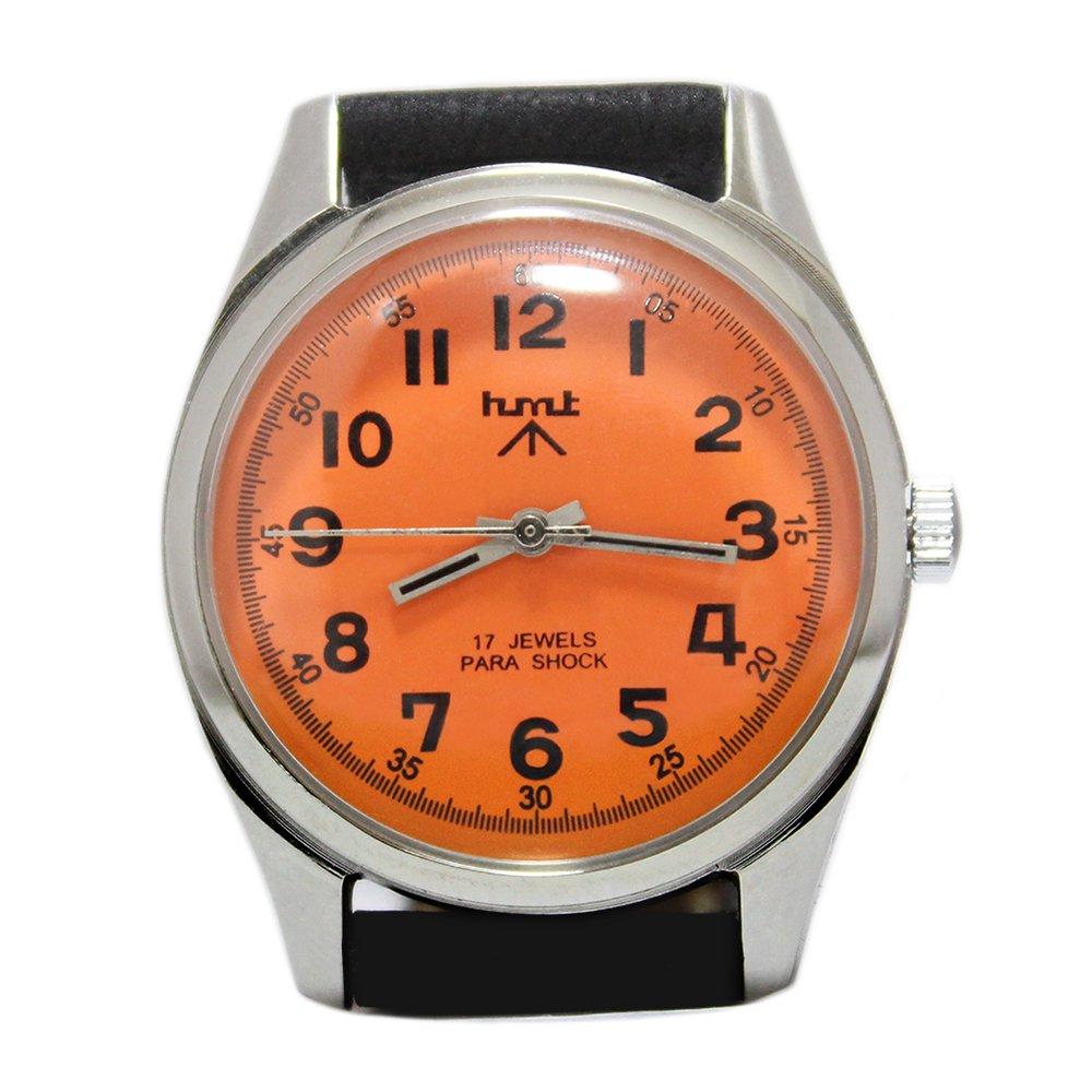 【Dead Stock】Vintage 1980's HMT British Army Military Watch -Orange × Black-
