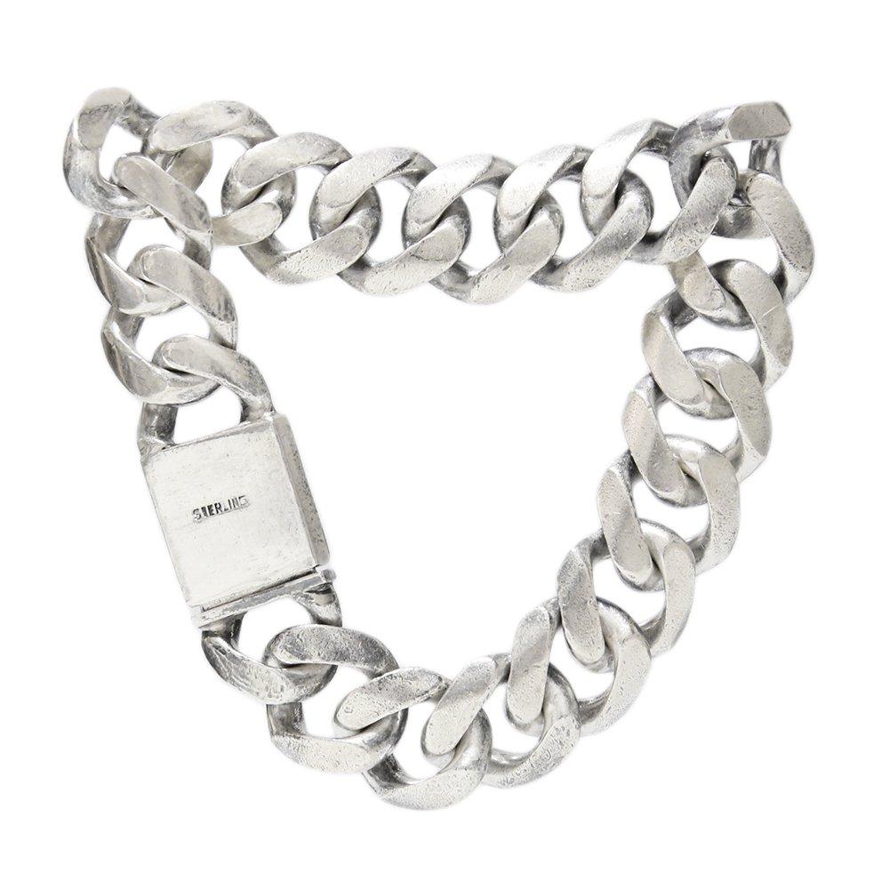 Vintage 925 Silver Heavy Chain Bracelet -15mm wide-