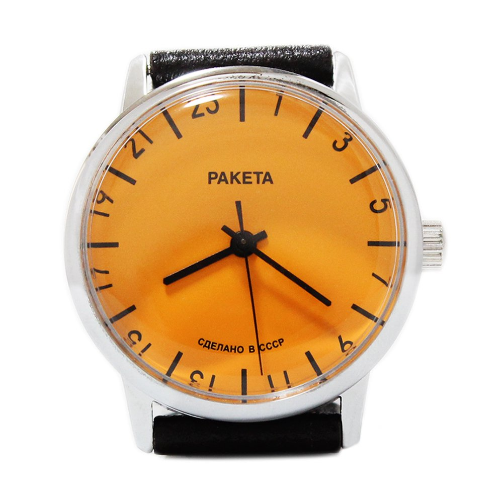 RAKETA Russian Wrist Watch 24 Hours Movement -CCCP-