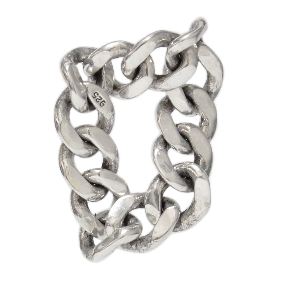 925 Silver Flat Link Chain Ring