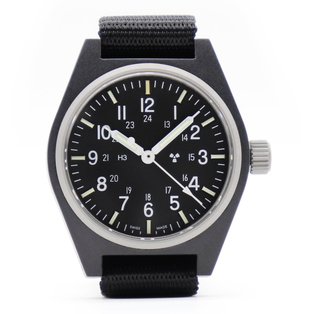 Marathon U.S. Military General Purpose Field Watch Sterile -Black-