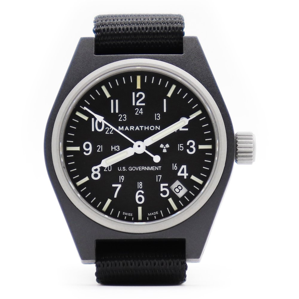 Marathon U.S. Military General Purpose Field Watch with Date -Black-