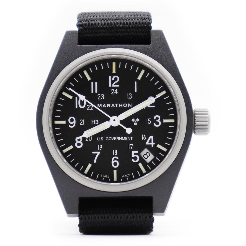 Marathon U.S. Military General Purpose Field Watch with Date -Black-