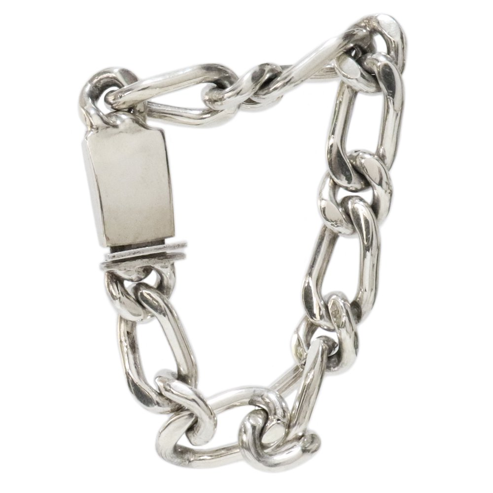 Taxco Mexican Heavy Figaro Chain Bracelet -13mm wide-