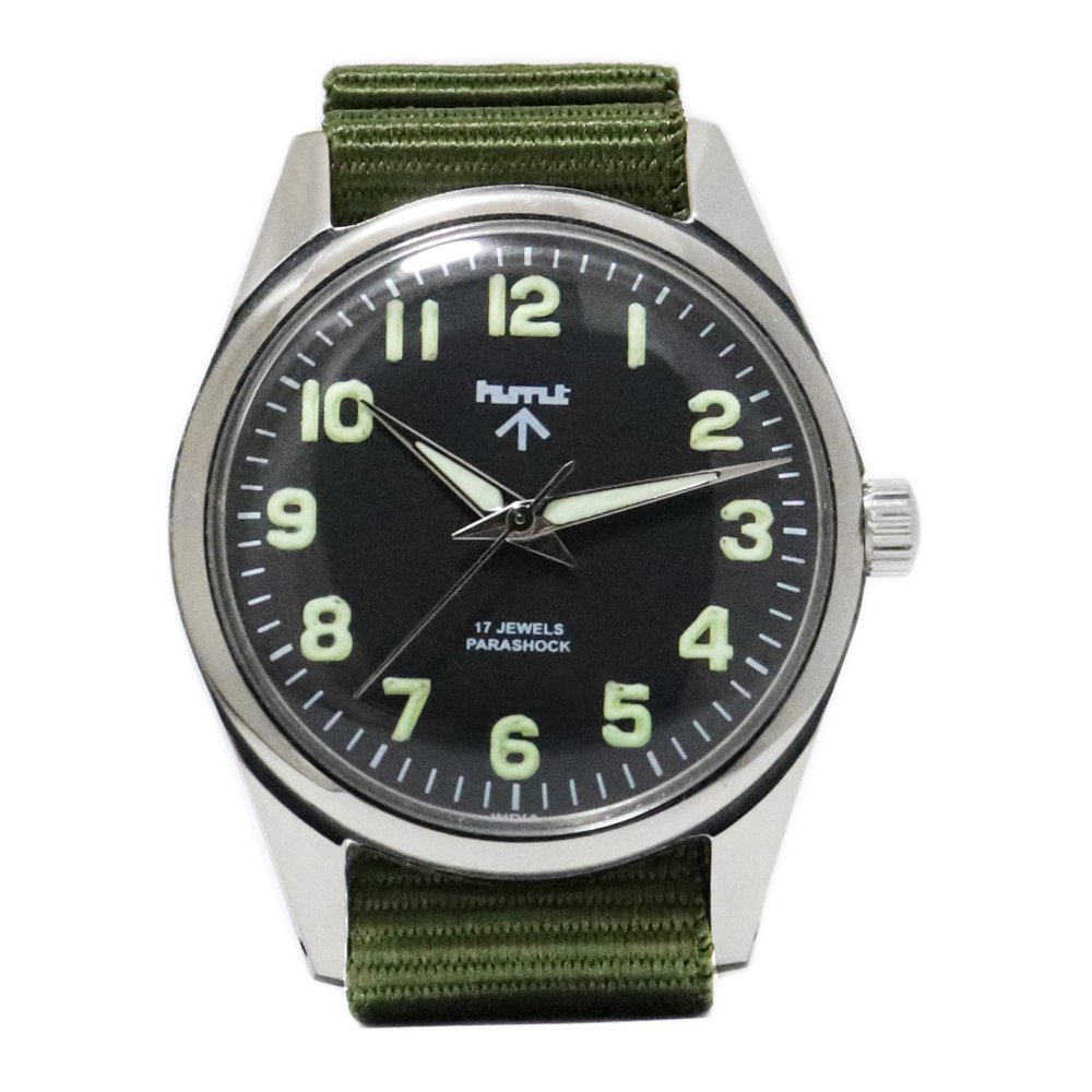 【Dead Stock】Vintage 1980's HMT British Army Military Watch -Black-
