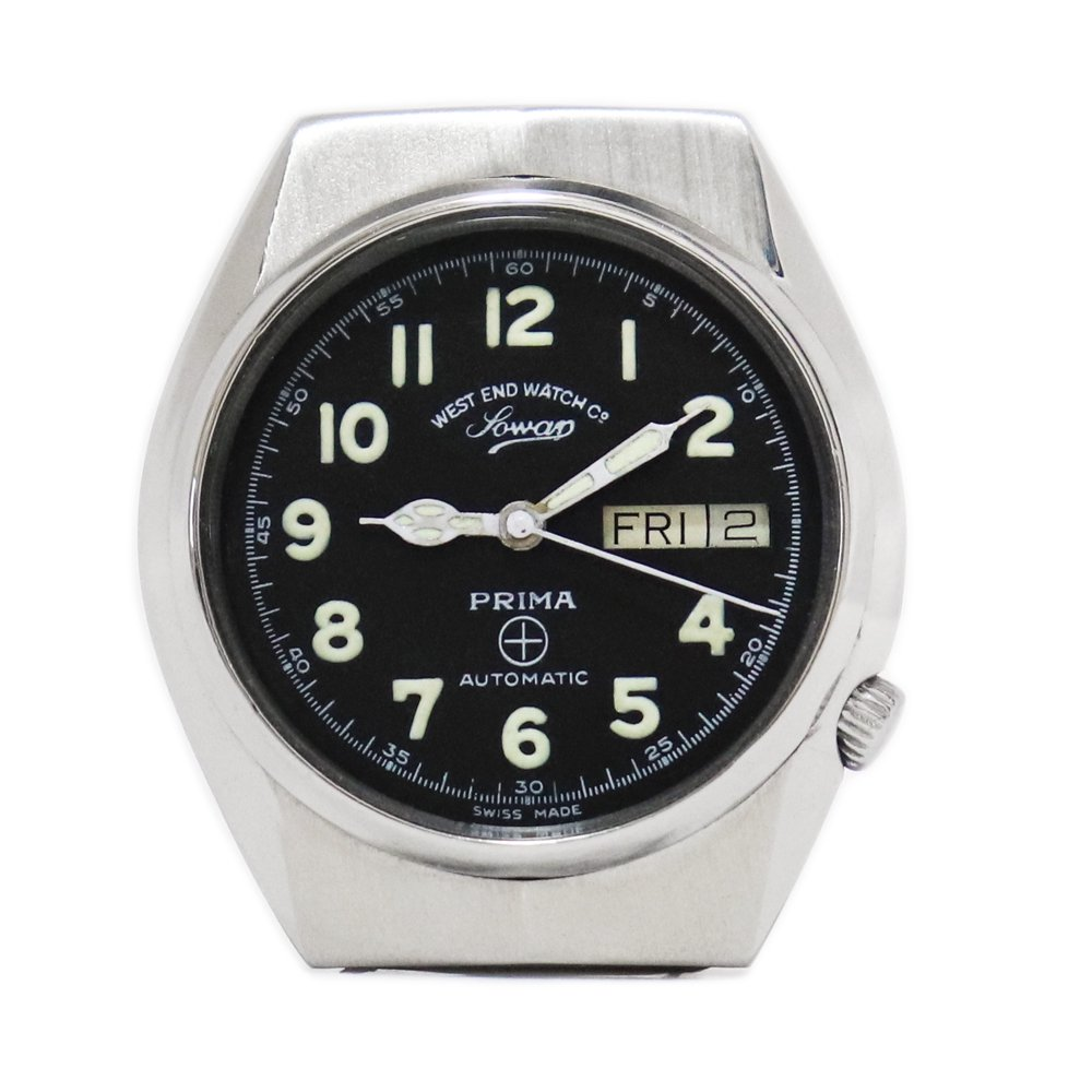 Vintage 1970's West End Watch Co. Sowar British Military Watch -with Calender-