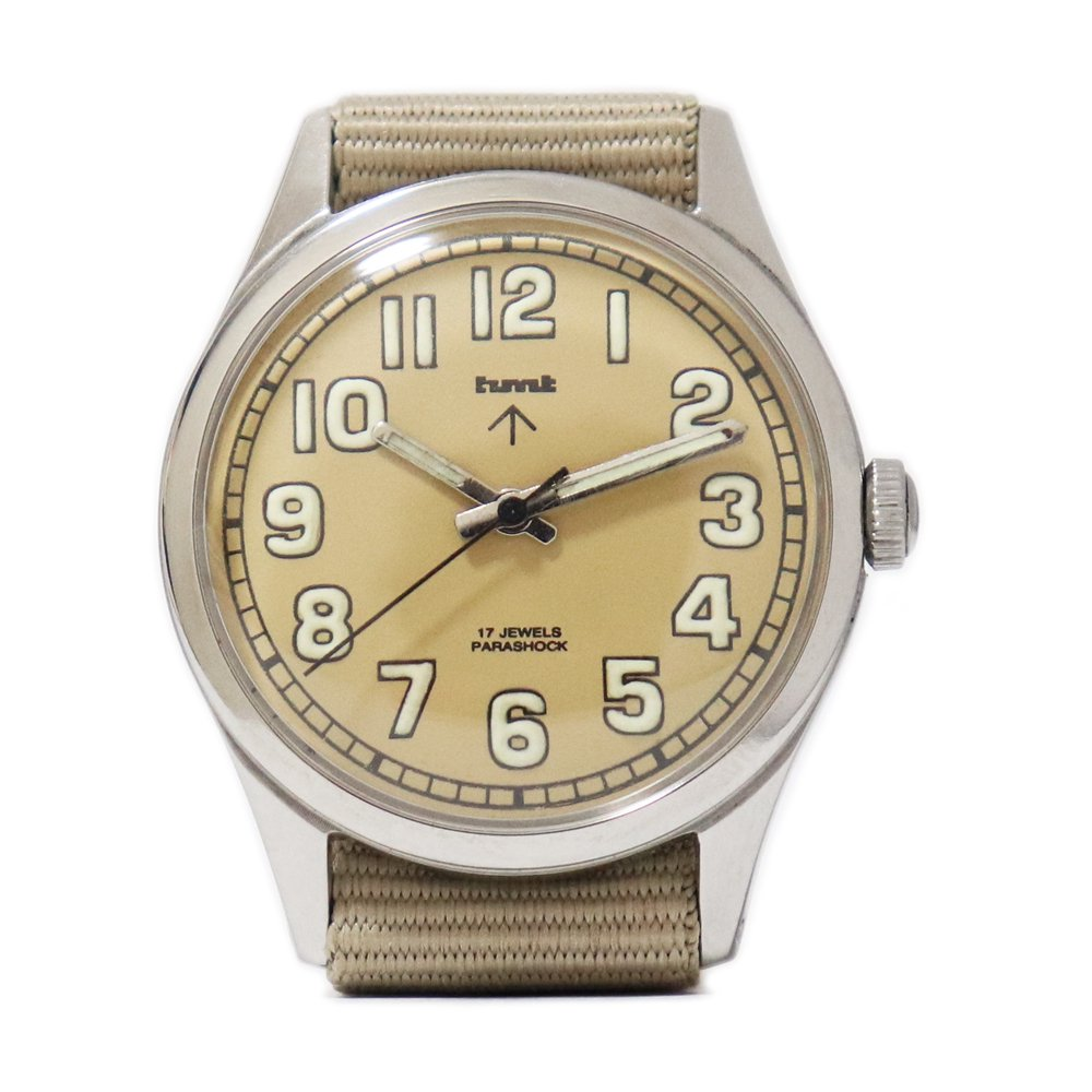 【Dead Stock】Vintage 1980's HMT British Army Military Watch -Sand Beige-