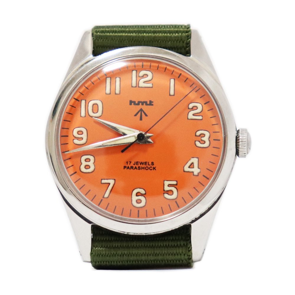 【Dead Stock】Vintage 1980's HMT British Army Military Watch -Orange-