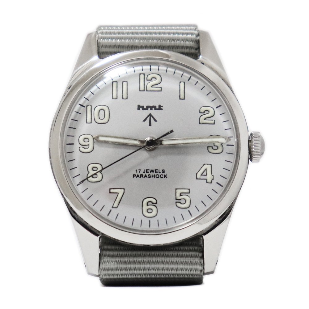 【Dead Stock】Vintage 1980's HMT British Army Military Watch -Metallic Gray-