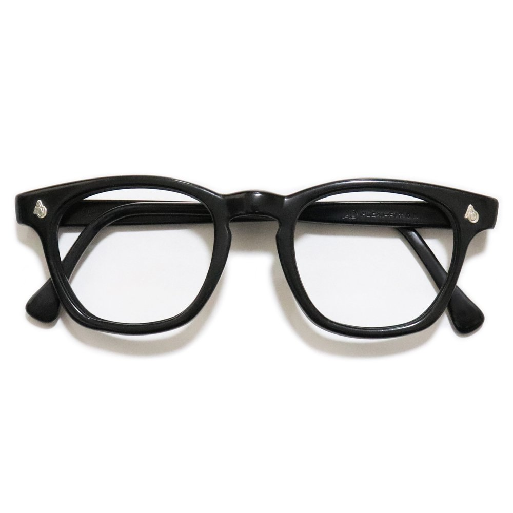 Vintage 1950's American Optical Safety Glasses Black -Made in U.S.A.-