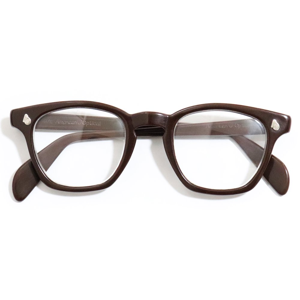 Vintage 1950's American Optical Safety Glasses Chocolate Brown -Made in U.S.A.-