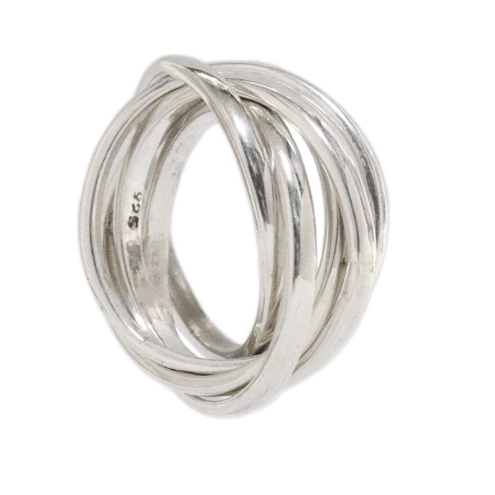 Silver 925 Quintuple Band Ring