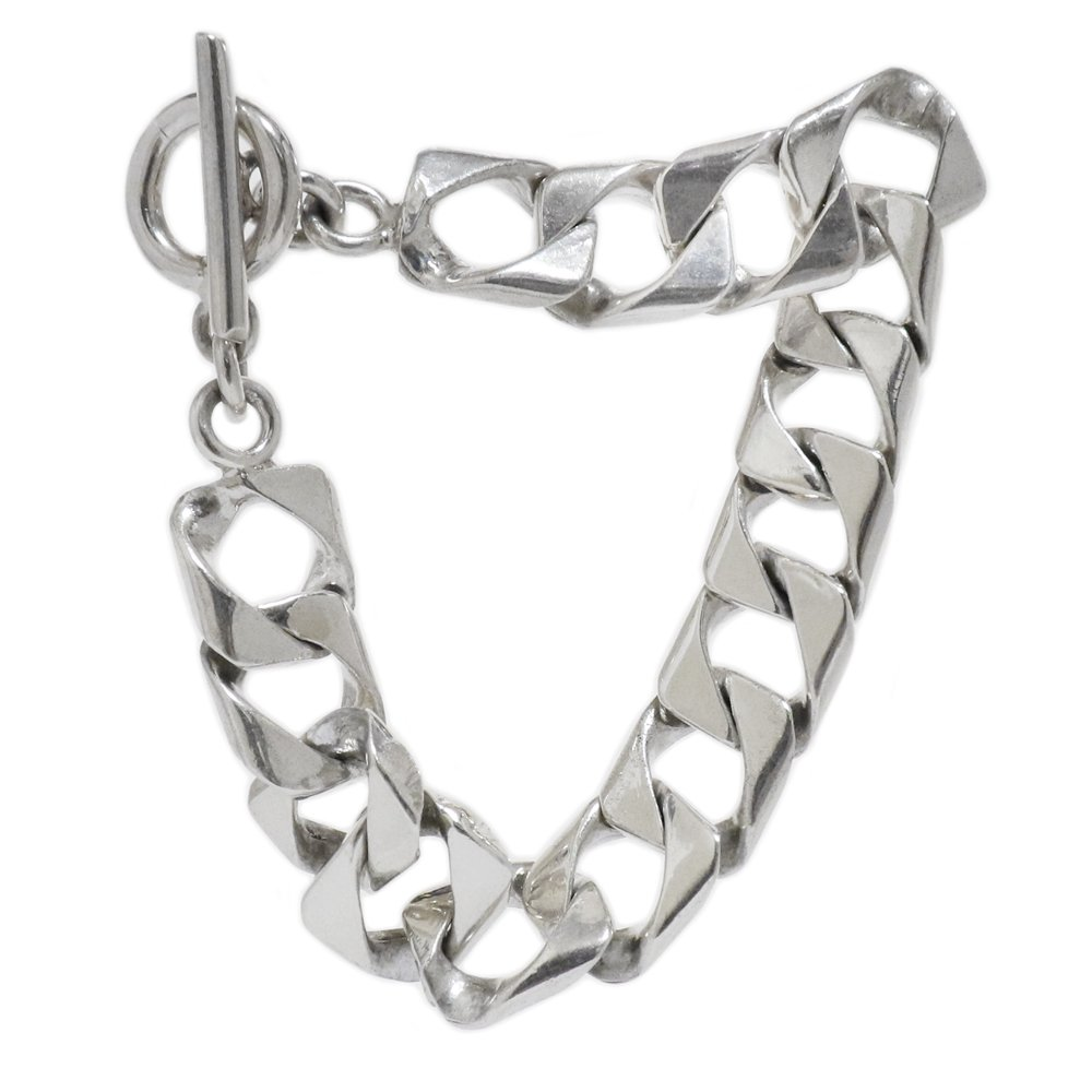 Taxco Mexico 925 Square Link Chain Bracelet -14mm wide-