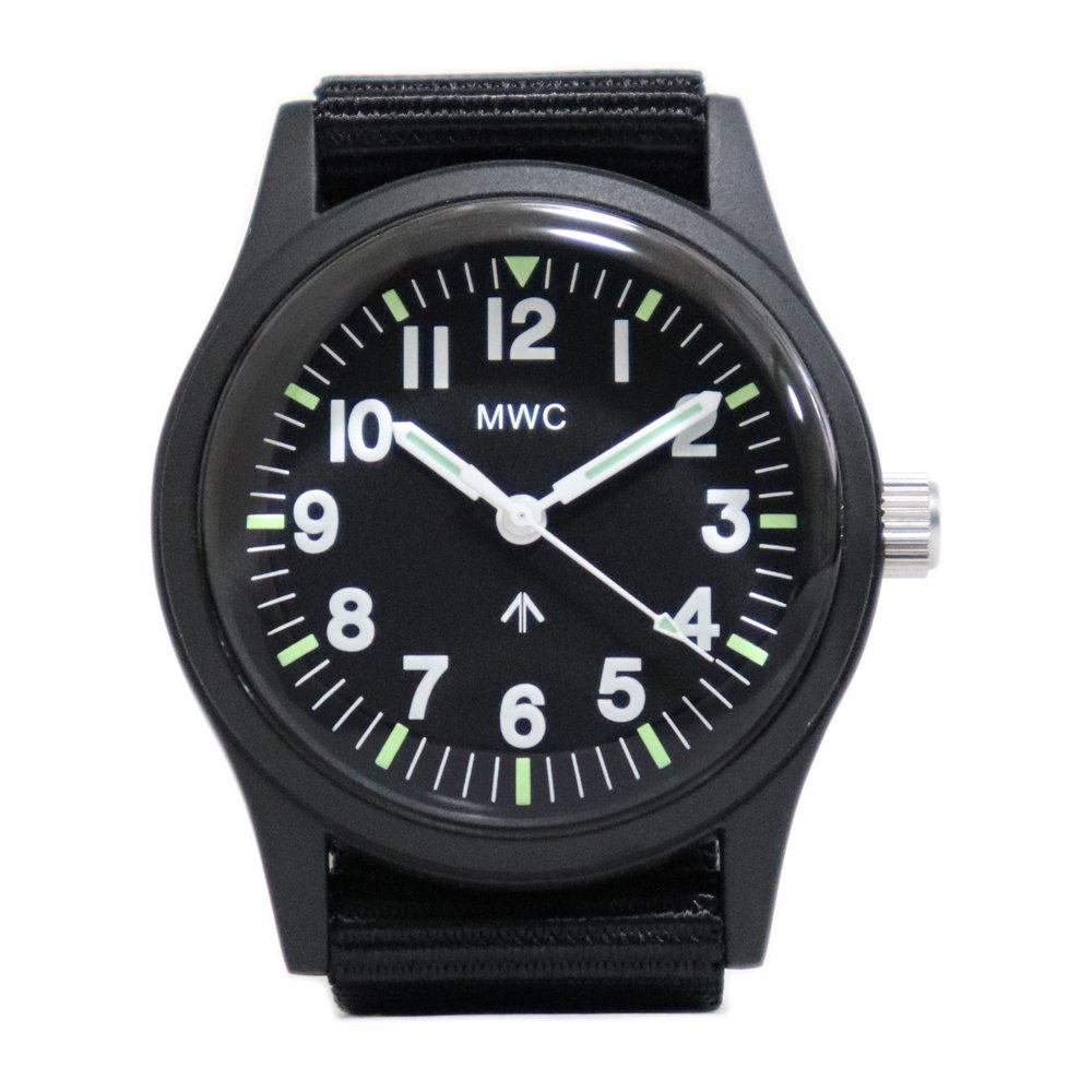 MWC Mil-1966 Military Disposable Watch -Black-