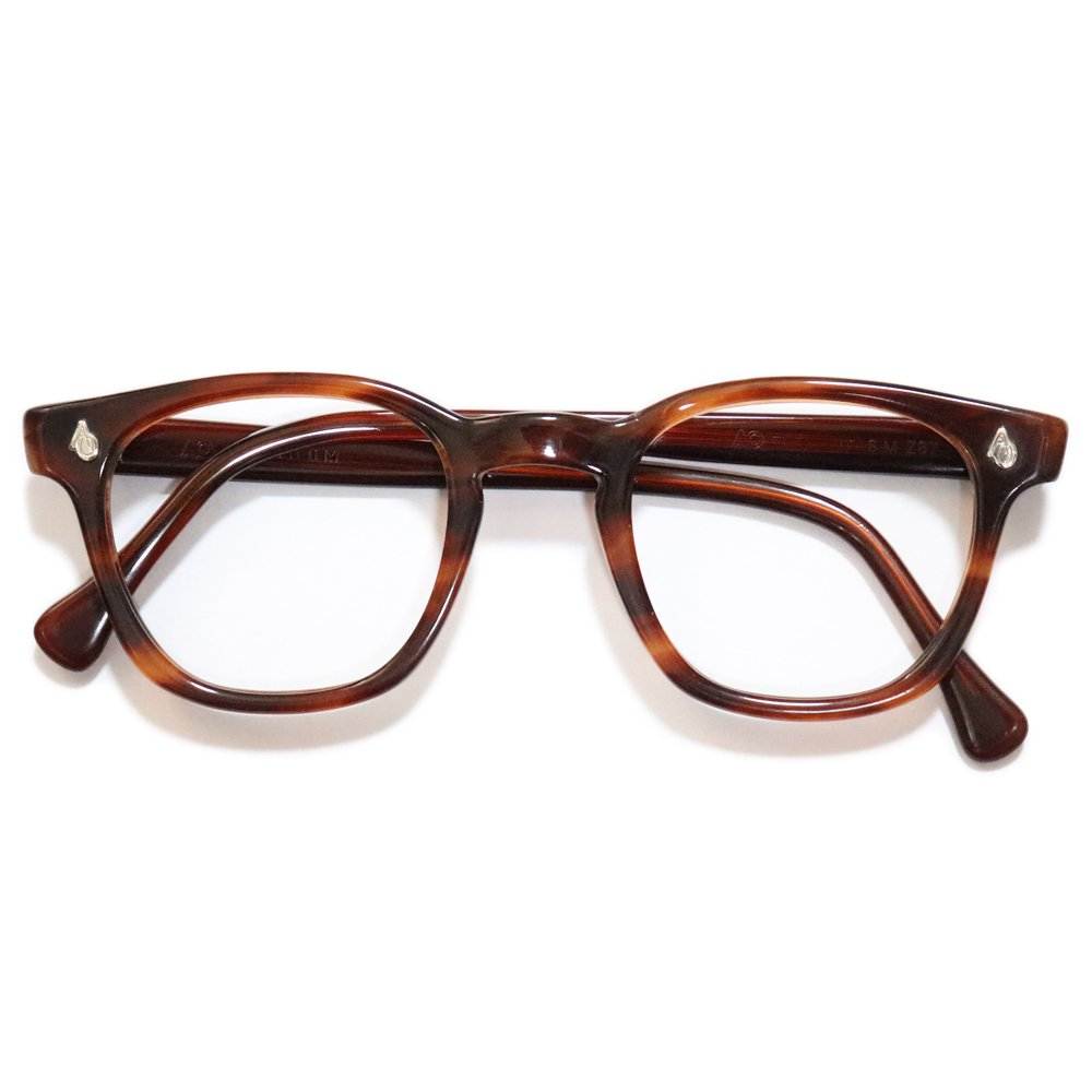 Vintage 1950's American Optical Safety Glasses Amber -Made in U.S.A.-