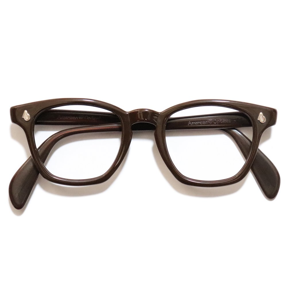 Vintage 1950's American Optical Safety Glasses Brown -Made in U.S.A.-