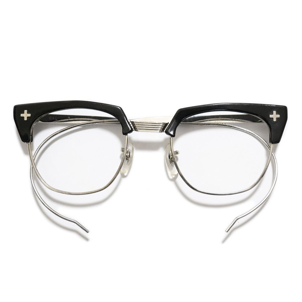 Vintage 1950's Bausch&Lomb Browline Safety Glasses black -Made in U.S.A.-