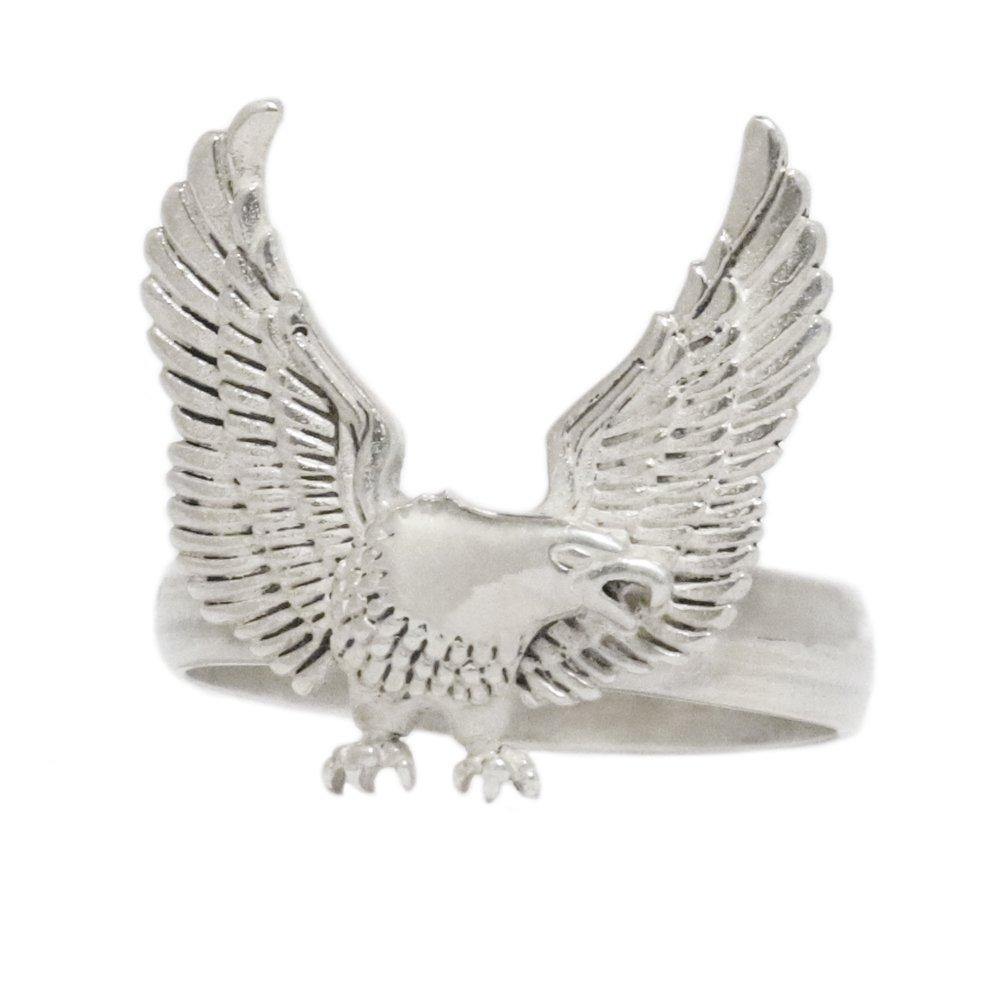 925 Silver Harley Davidson Eagle Wing Ring
