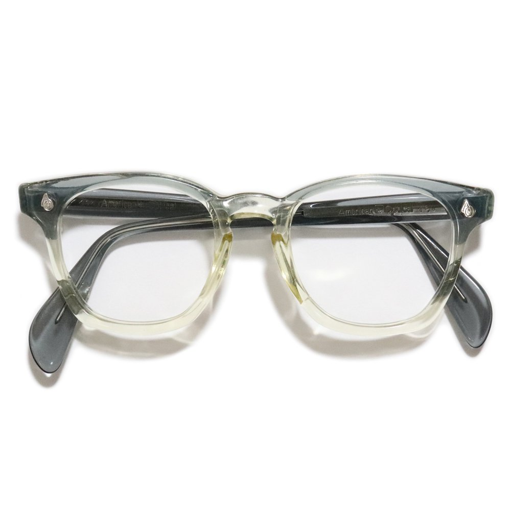 Vintage 1950's American Optical 2Tone Safety Glasses Gray/Clear -Made in U.S.A.-