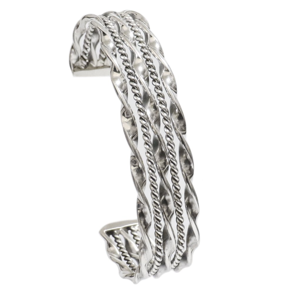 Navajo Twisted Wire Cuff Bracelet by Tahe -14mm wide-