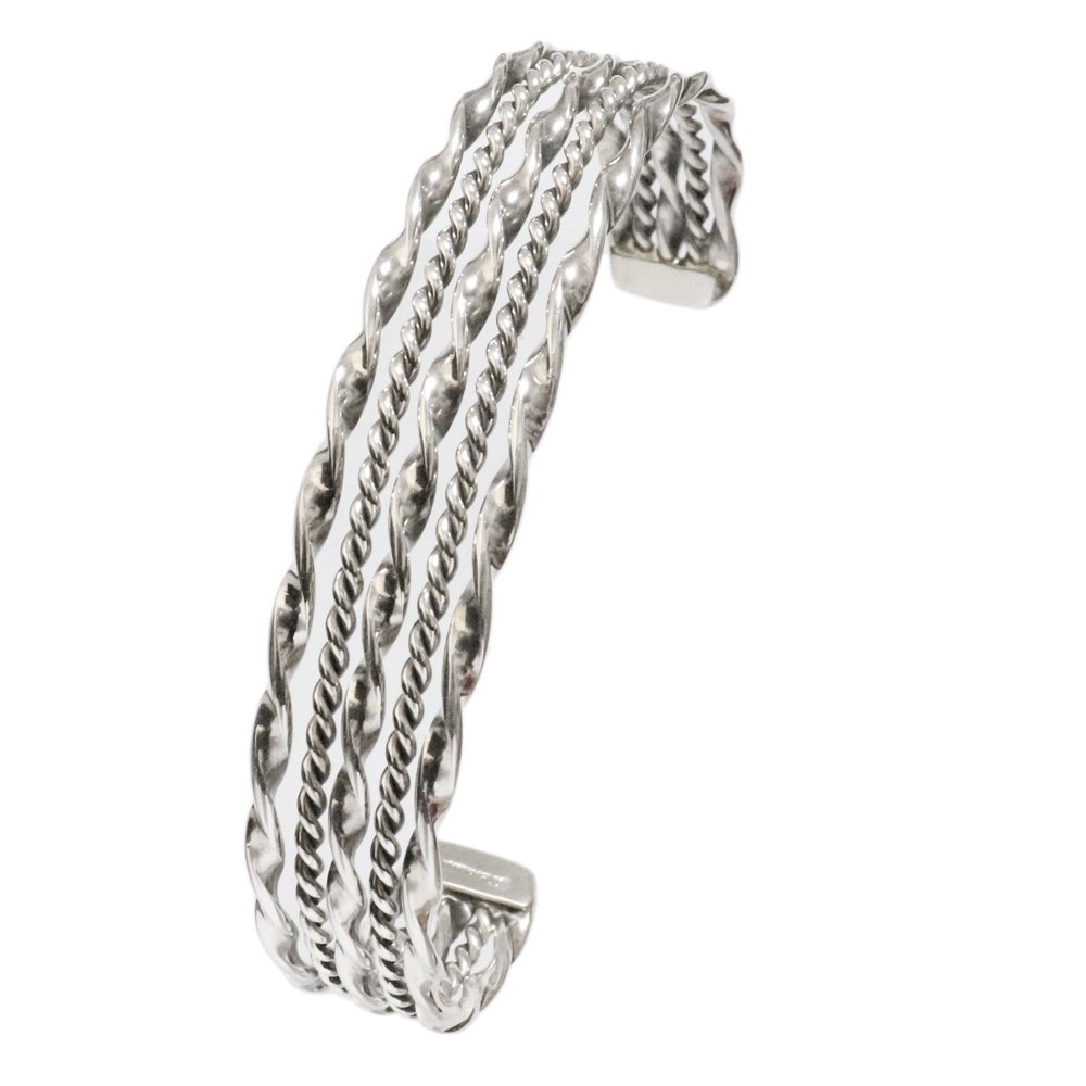 Navajo Twisted Wire Cuff Bracelet by Tahe -12mm wide-