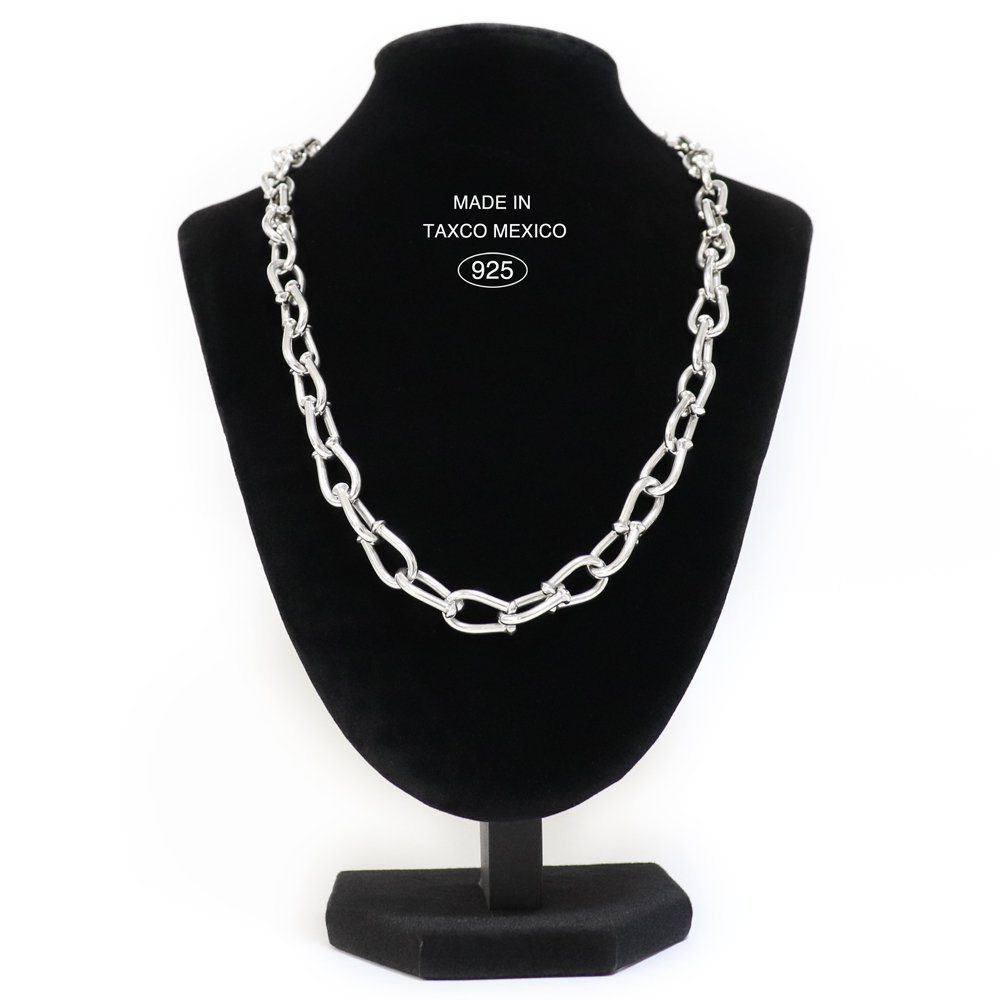 Taxco Mexican 925 Heavy Toggle Chain Necklace -53cm / 82g-