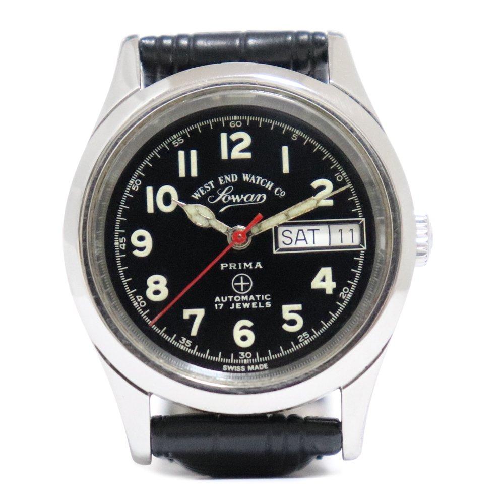 Vintage 1970's West End Watch Co. Sowar British Military Watch Black -with Calender-