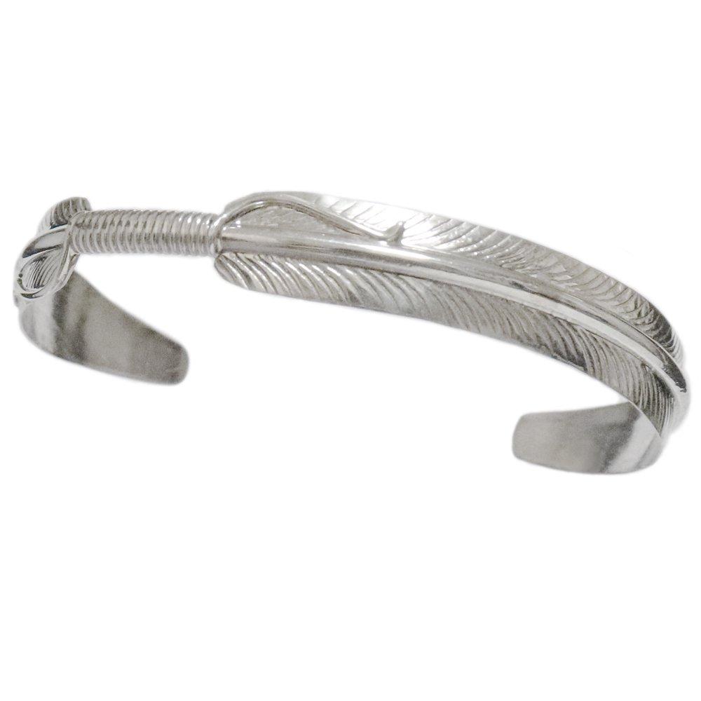 Navajo 925 Silver Feather Bangle