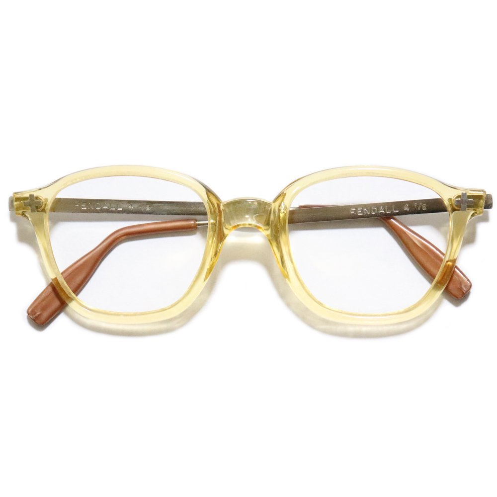 Vintage 1950s Fendall Safety Glasses Gold Clear -Made in U.S.A.-