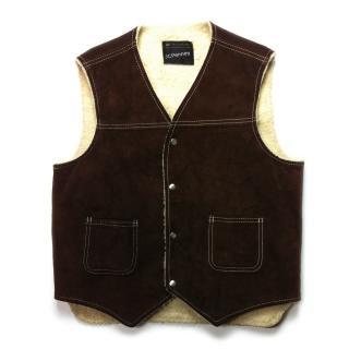 【Dead Stock】 Vintage 70's  JC Penney Suede Vest -Sears-
