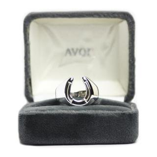 【Dead Stock】 Vintage AVON Horseshoe Ring -Sterling Silver-
