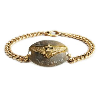 Vintage 1940's WW� US NAVY AIR FORCE ID BRACELET -12K Gold-